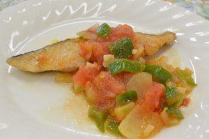 お魚のソテー トマトソース