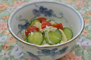 くずし豆腐のトスサラダ