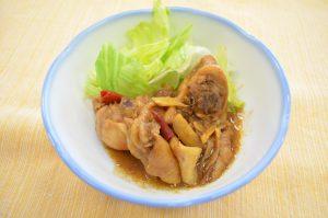 1.鶏肉の梅干し煮