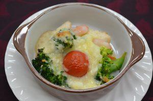 ブロッコリーの長芋グラタン