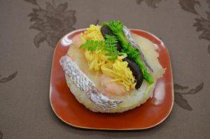 鯛と菜の花のおすし