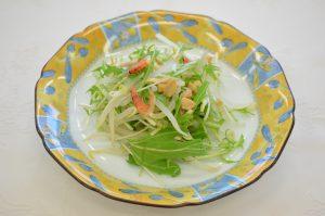 水菜ともやしのサラダ
