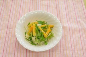 柿と水菜の和風サラダ
